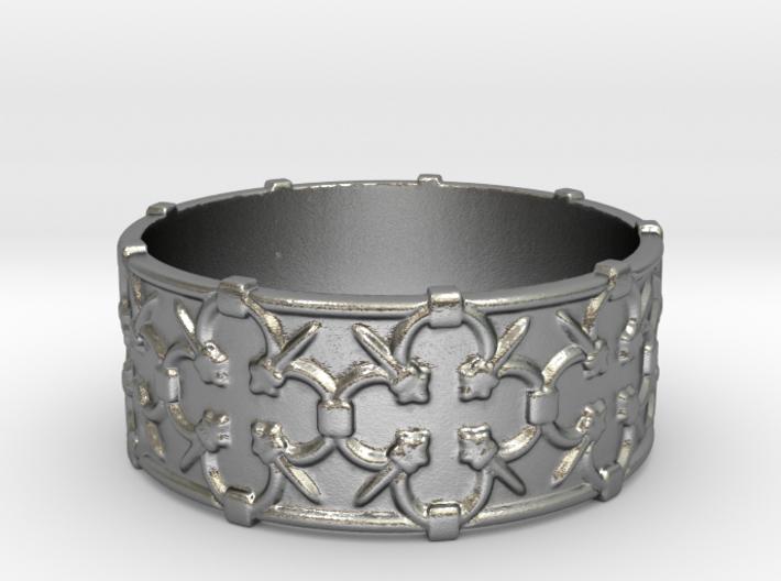 Gothic Lattice Ring 3d printed