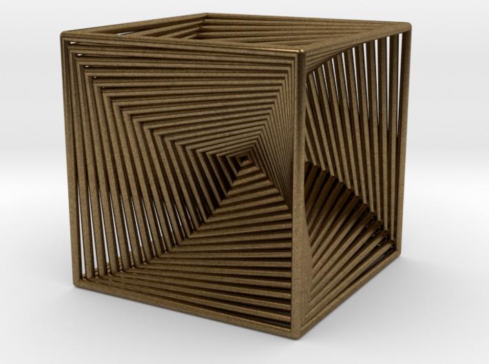0299 Cube Line Design (full color, 5.5 cm) #003 3d printed