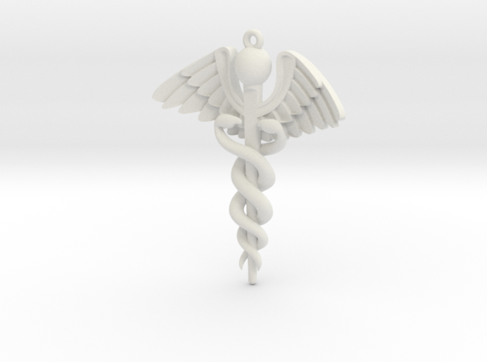 Caduceus 3d printed
