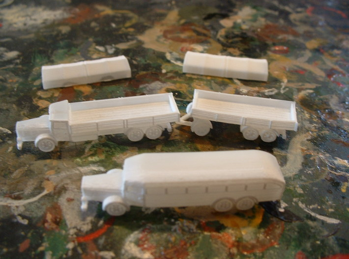 German VOMAG Bus, Truck and Trailer 1/285 6mm 3d printed