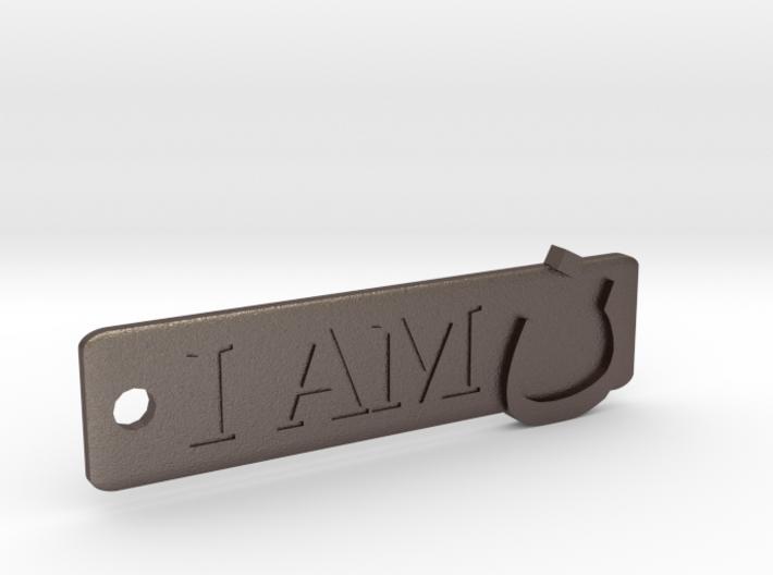 'I Am N' Keychain 3d printed
