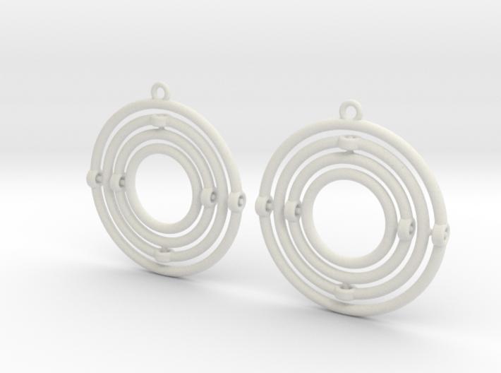 Circular Gyrocope Earrings 3d printed