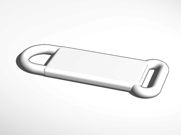 ^keychain add your own lanyard strap 3d printed External Render