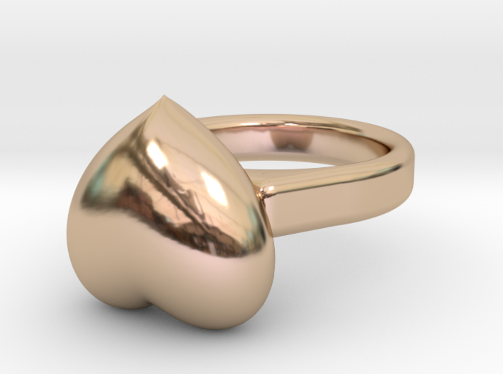 Ø15.41 mm - Ø0.606inch Heart Ring 3d printed