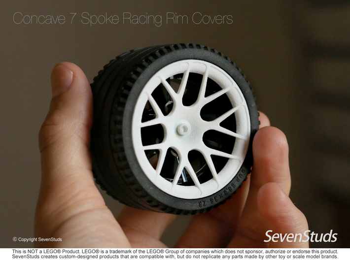 Racing Wheel Cover 07_56mm 3d printed