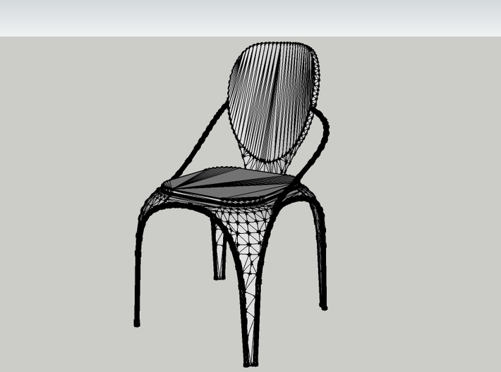 Spring chair 3d printed