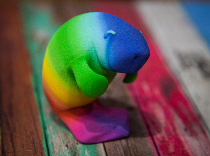 Oh, The Hue Manatee! 3d printed