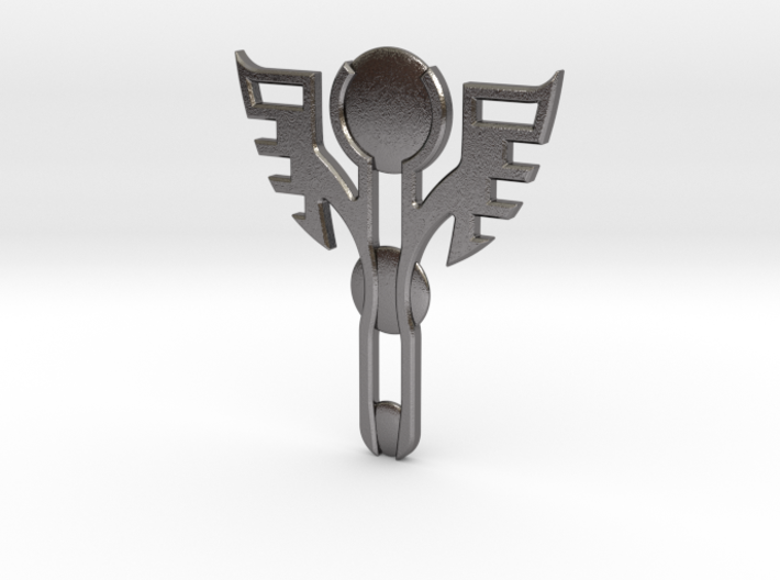 Winged Pendant 3d printed