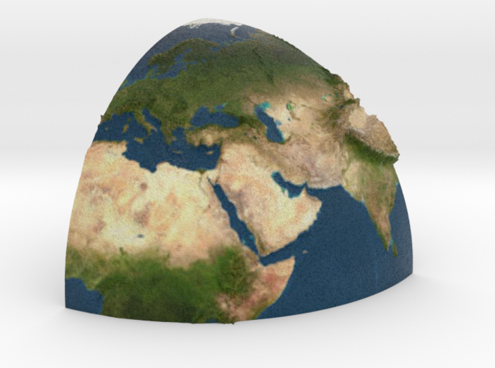 Second part of planet earth sectioned quarter 3d printed
