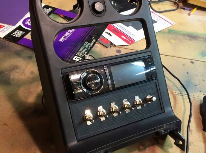 Miata Radio Switch Panel 3d printed