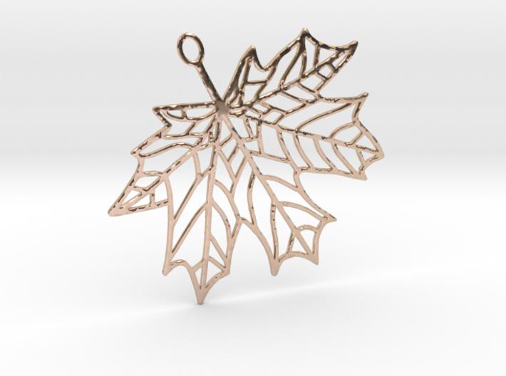 Maple Leaf Pendant 3d printed