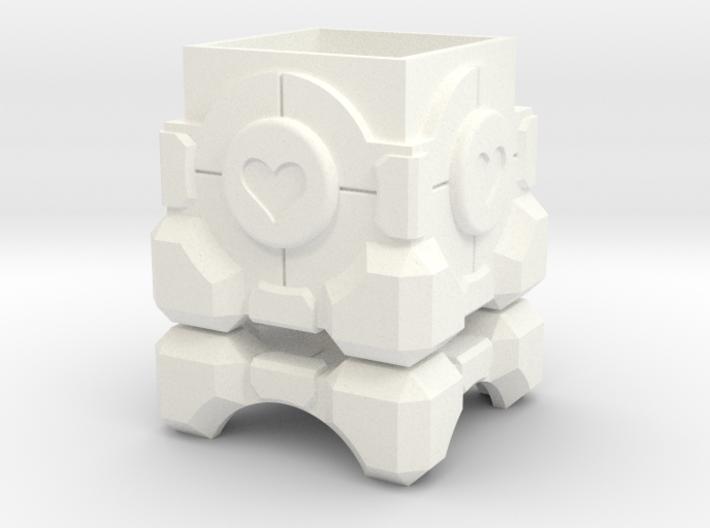 Portal Companion Cube Ring Box 3d printed