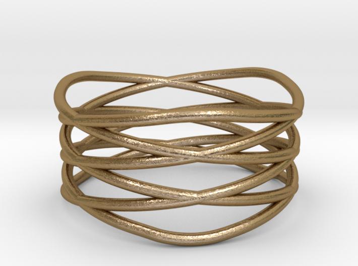 Triple Loop Ring (8) 3d printed