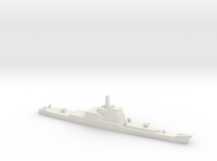 Long Beach Refitted with Aegis, 1/2400 3d printed