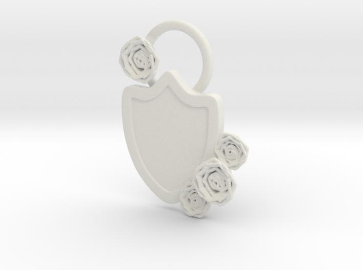 Rose Kite Shield 3d printed