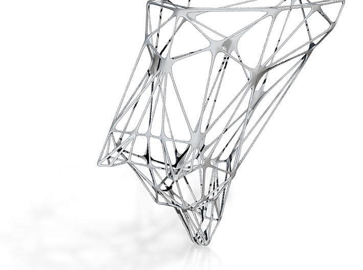 Wireframe Wolf 3d printed