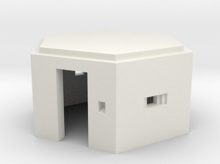 N Scale WWII Pillbox 3d printed