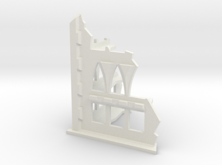 6mm Scale Gothic Corner Ruin 3d printed