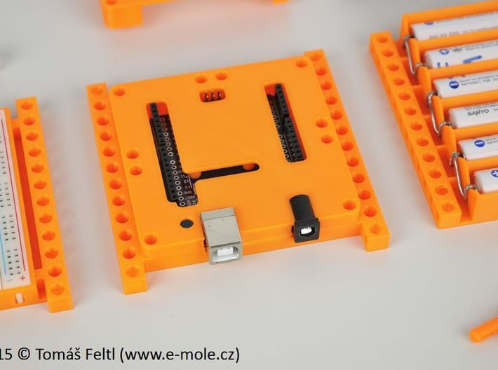 Bitbeam case set for Arduino UNO R3 3d printed Example of use, not all parts on photo are printable :-)
