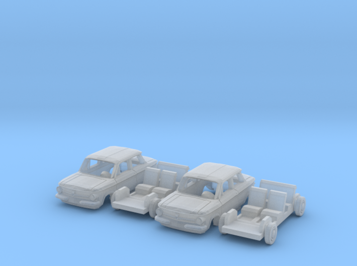 SET 2x NSU Prinz 4 (N 1:160) 3d printed
