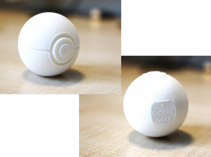 Pokeball - I Choose You 3d printed Feels strong and solid in my hand. Firmly stands on the base. And it's a perfect gift.