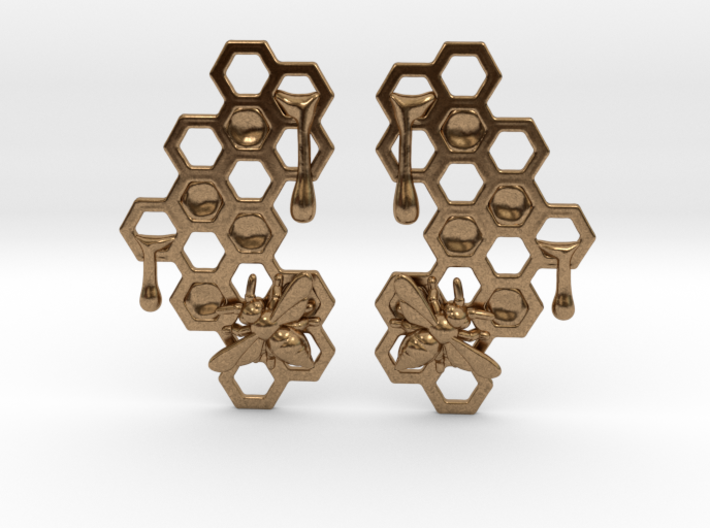 Honey Comb Earring Set 3d printed