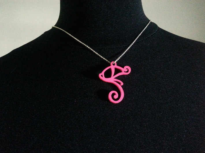 The eye of Ra 3d printed This pendant is painted by me and the color may vary if you order the pink colored pendant.