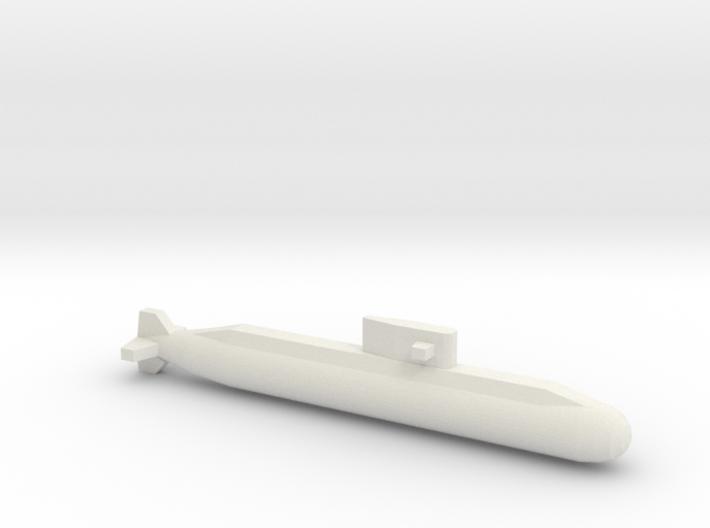 Lada-Class Submarine, Full Hull, 1/1800 3d printed