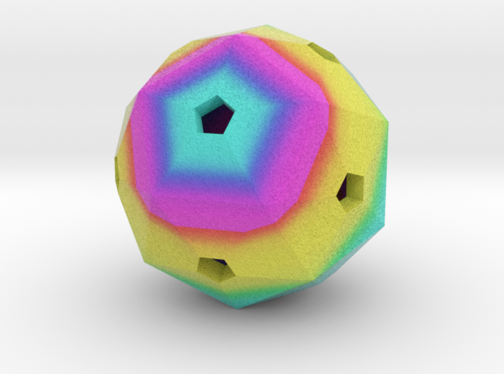 Hollow Blank Rainbow D60 3d printed
