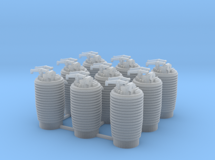 16th Clerget Cylinders 3d printed