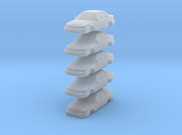 n scale 1998-2000 toyota corolla (5 pack) 3d printed