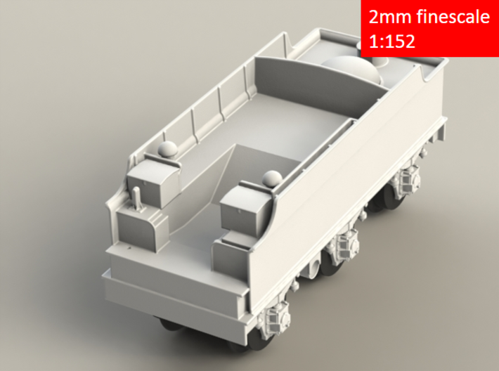 GWR Churchward 3500 gal tender, 2mm FS 3d printed Rendering - front