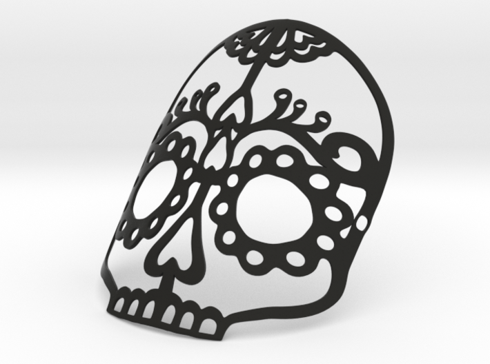 Wearable Halloween or Day of the Dead Skull Mask 3d printed
