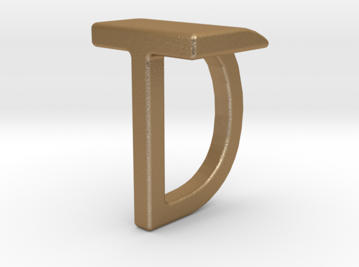 Two way letter pendant - DT TD 3d printed