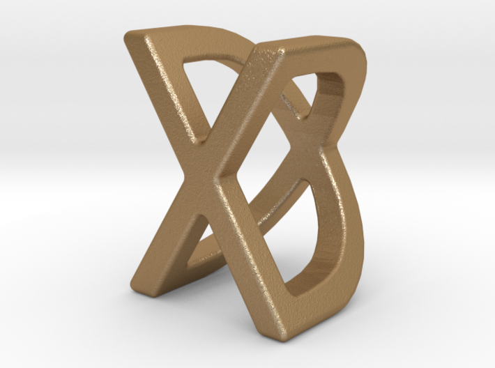 Two way letter pendant - DX XD 3d printed