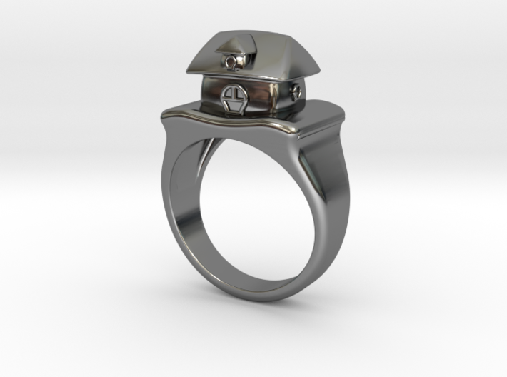 Cute House Ring 3d printed