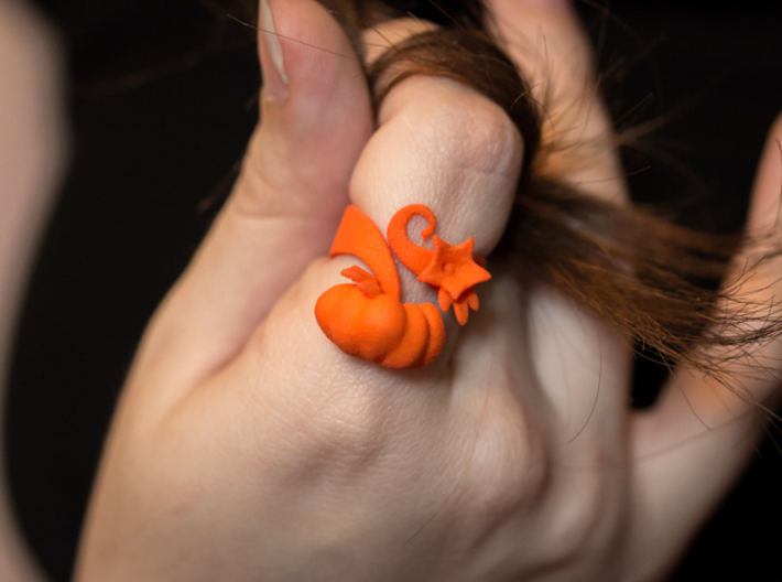 Fairytale Pumpkin Ring 3d printed