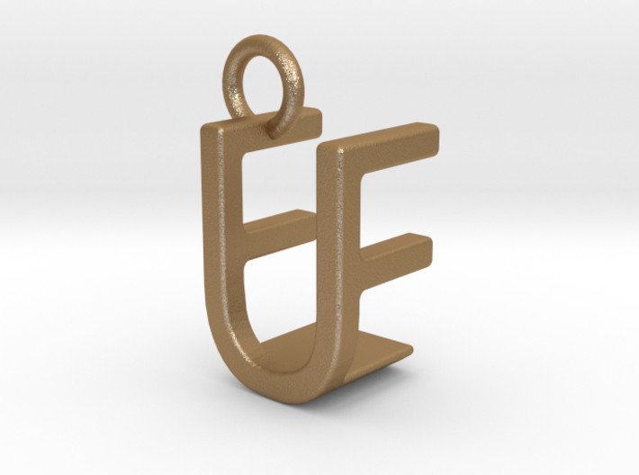 Two way letter pendant - EU UE 3d printed