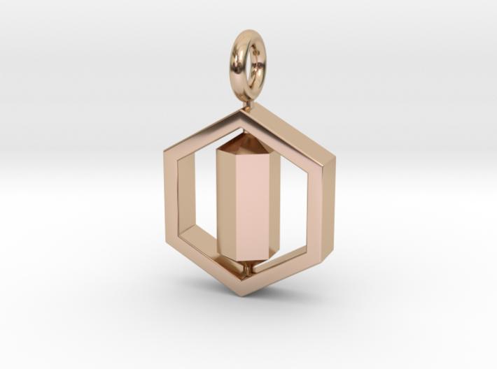 [customization] Double Six Pendant (fix) 3d printed