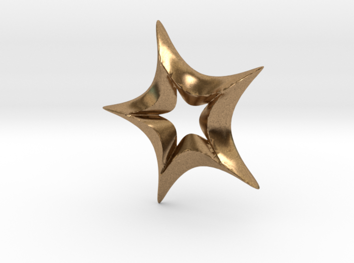 Star In A Star Spikey Round 3d printed