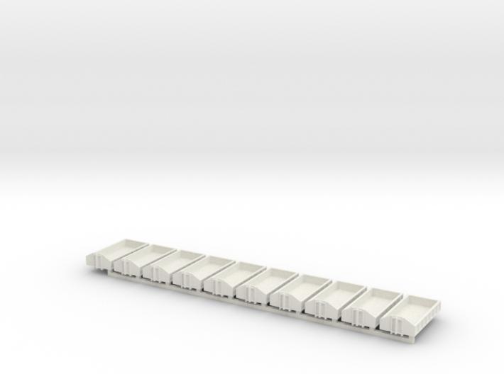 1/160 Spur N scale Abrollbehälter flach 10er 3d printed
