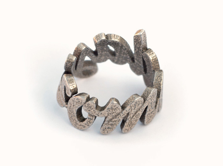 Someday Ring (various sizes) 3d printed Stainless Steel