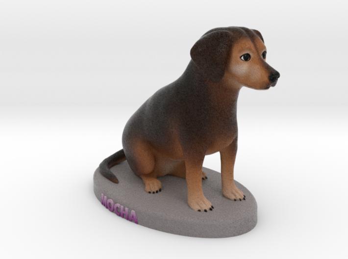 Custom Dog Figurine - Mocha 3d printed