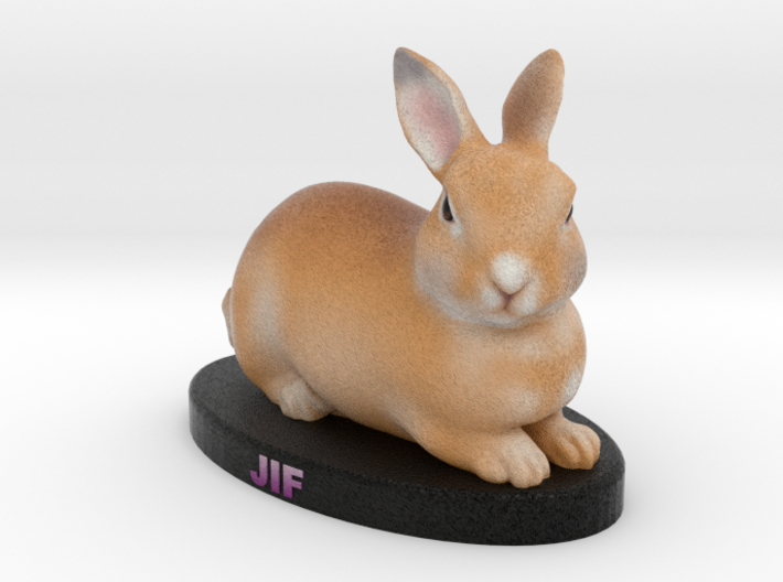 Custom Rabbit Figurine - Jif 3d printed