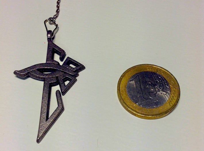 Ingress Enlightened Pendant 3d printed
