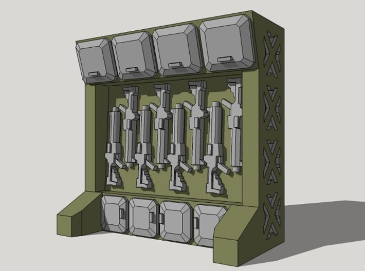 15mm Arms Rack/Locker 3d printed