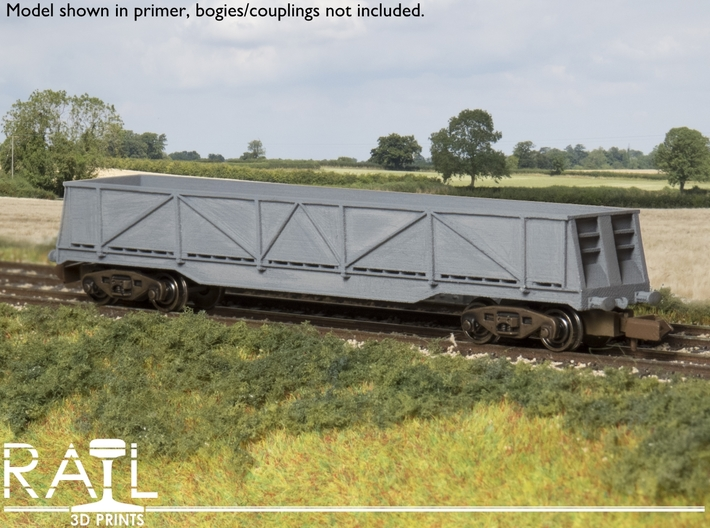 N Scale - JXA/PXA Sheerness Scrap Wagon 3d printed Model in primer.