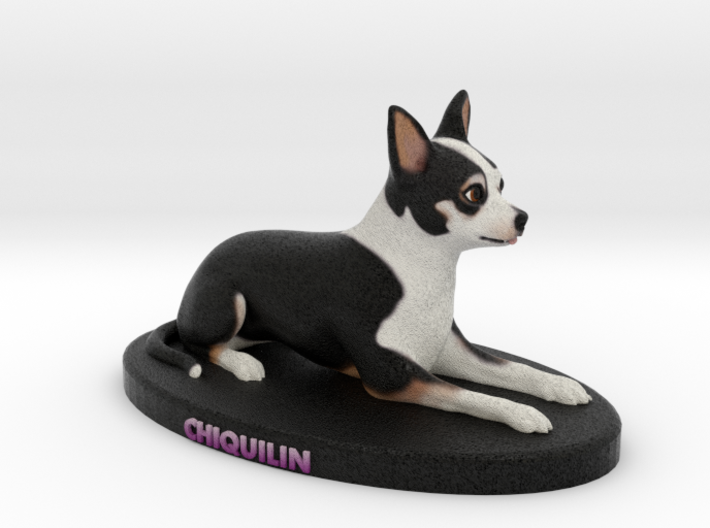 Custom Dog Figurine - Chiquilin 3d printed