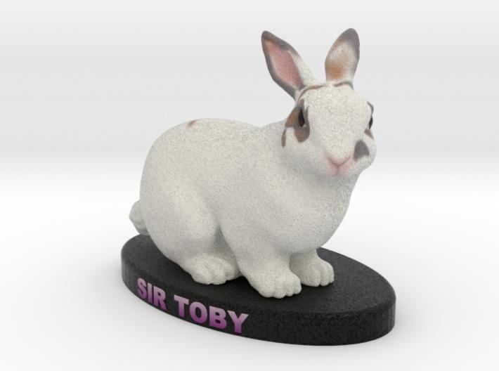 Custom Rabbit Figurine - Toby 3d printed
