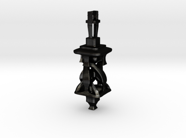 Twisting Tower Pendant 3d printed